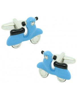Light Blue Scooter Cufflinks