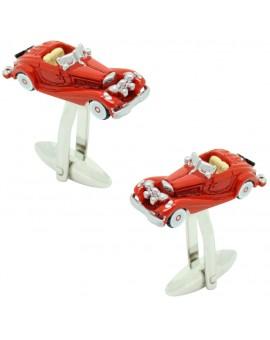 Gemelos para camisa coche Triumph TR2 Rojo