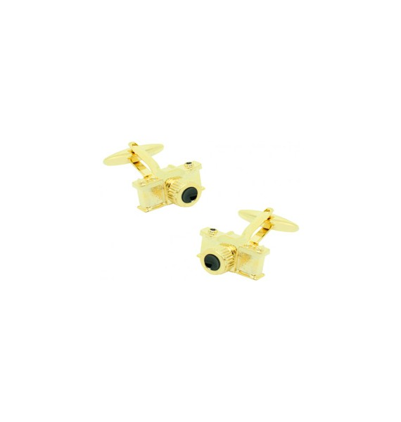 Golden Camera Cufflinks