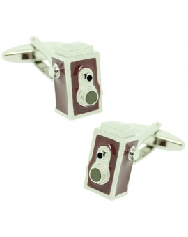 Brown Vintage Camera Cufflinks