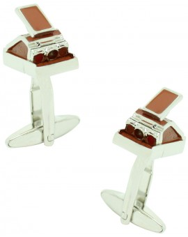 Brown Polaroid Camera Cufflinks