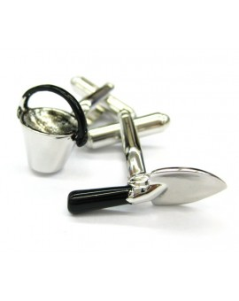 Gardening Shovel and Can Cufflinks