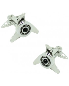 GTO Steel Black Spinner Cufflinks