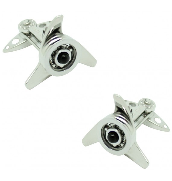 GTO Steel Black Spinner Cufflinks