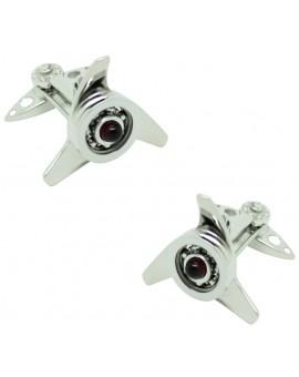 Gemelos para camisa Spinner Rojo GTO Steel