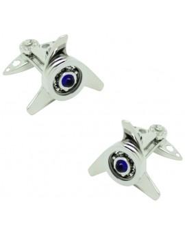 Gemelos para camisa Spinner Azul GTO Steel
