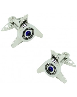 GTO Steel Blue Spinner Cufflinks
