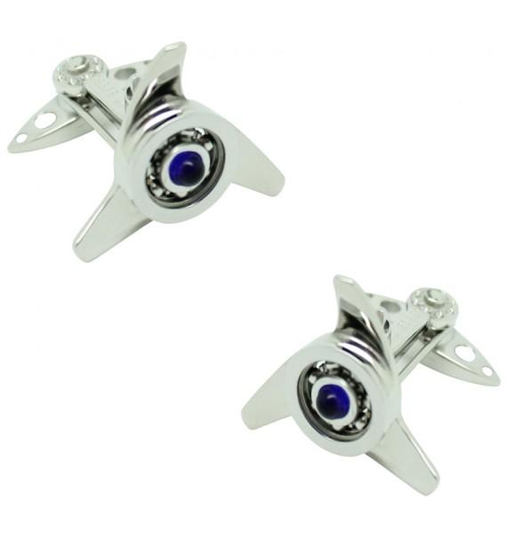 GTO Steel Blue Spinner Cufflinks