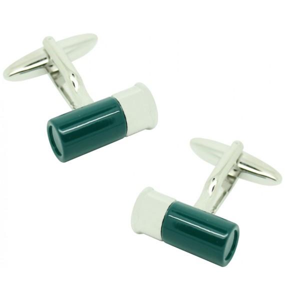 Green Gun Cartridge Cufflinks