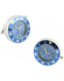 Blue Sports Watch Cufflinks