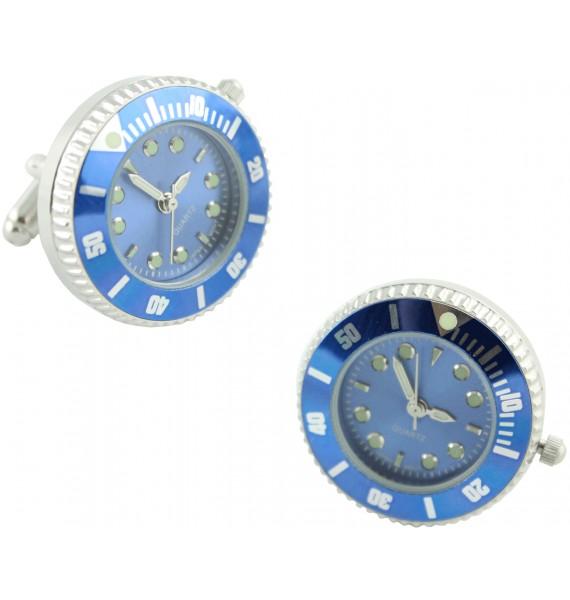 Gemelos para camisa Reloj rolex Azul