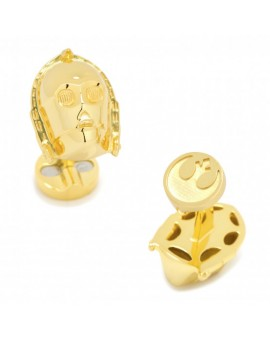 3D Gold Plated C3PO Cufflinks