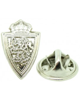 Silver Plated Real Zaragoza Pin