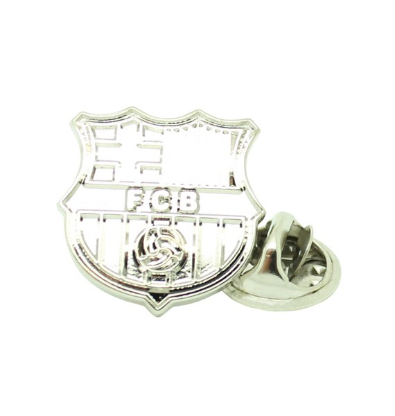 Silver Plated Barcelona FC Pin