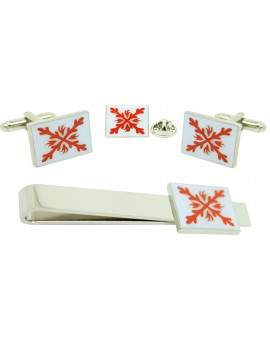 White Tercio of Infantry from Century XVI Cufflinks,Tie Bar and Pin Gift Set