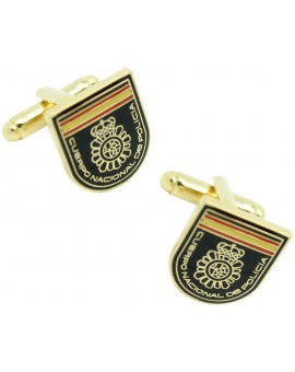 Spanish National Police Patch Cufflinks