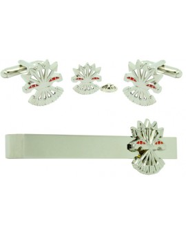 Symbol of Spanish Francoism Cufflinks, Tie Bar and Pin Gift Set
