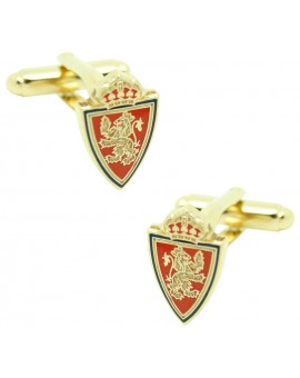 Gold Plated Real Zaragoza Cufflinks