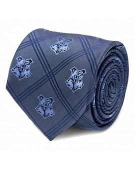 Corbata Escudo Hogwarts Tartán Azul - Harry Potter