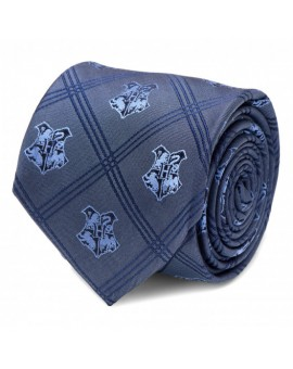 Blue Hogwarts Plaid Tie