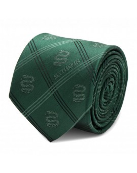 Green Slytherin Plaid Harry Potter Tie