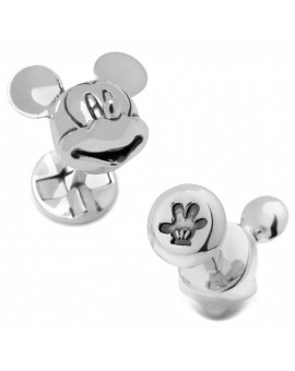 Disney - 3D Silver Plated Mickey Mouse Head Cufflinks