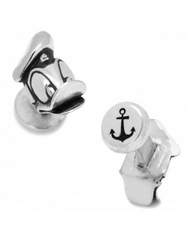Disney - 3D Silver Plated Donald Duck Head Cufflinks