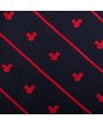 Corbata de Disney Mickey Mouse Azul Marino y Rayas Rojas