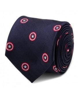 Corbata Capitán América Navy - Marvel