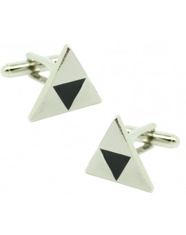Silver Triforce Symbol Cufflinks