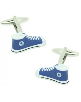 Gemelos para camisa zapatillas Converse Azules
