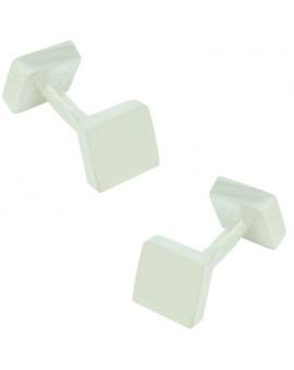 gemelos plata cuadrado doble para casmisa 925