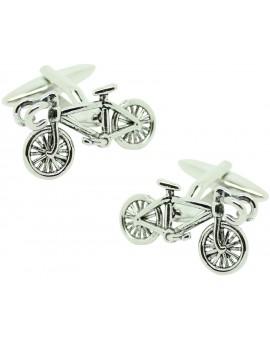 Cufflinks for shirt Silver road bike