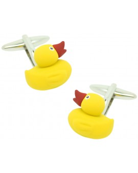 Yellow Ducky funny Cufflinks