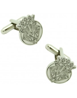 Silver Plated Villareal Football Club Cufflinks