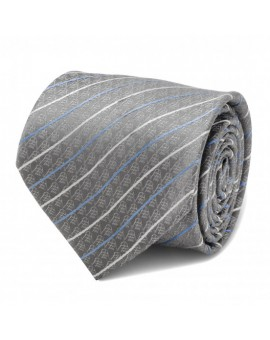Darth Vader Modern Stripe Gray Mens Tie for men