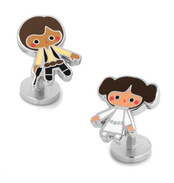 Gemelos para camisa Princesa Leia y Han Solo Star Wars
