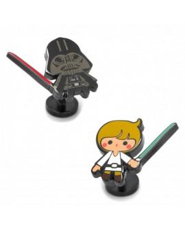 Gemelos para camisa Luke Skywalker y Darth Vader Star Wars