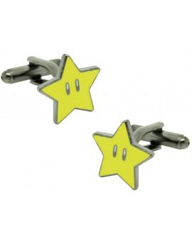 Gemelos para camisa Estrella Super Mario Bros.