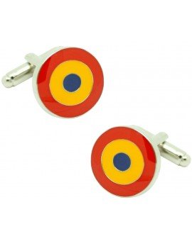 Cufflinks Spanish Republic flag for round shirt Spanish
