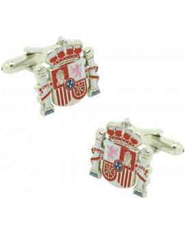 Official shield cufflinks Spain