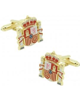 Gemelos para camisa escudo Oficial España golden