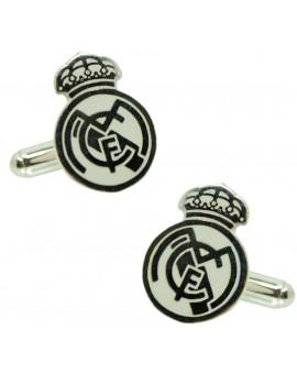 Gemelos para camisa Plata de Ley Real Madrid Oficial 925