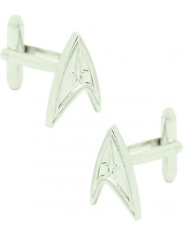 Gemelos para camisa Star Trek plateado