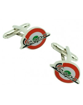 Red & Green Italy Mod Vespa Cufflinks