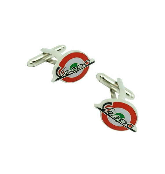 Red & Green Italy Mod Vespa Cufflinks