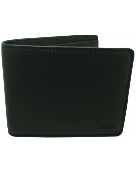 black wallet Hugo Boss black smooth skin white line