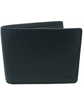 black wallet Hugo Boss black smooth skin yellow line