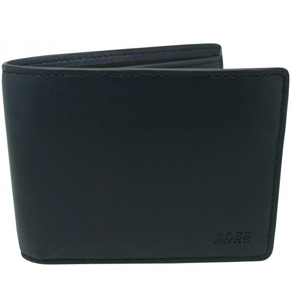 cartera negra Hugo Boss black linea amarilla interior