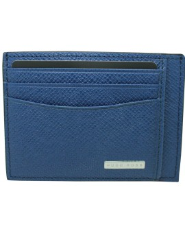 blue business card holder Hugo Boss granulated
